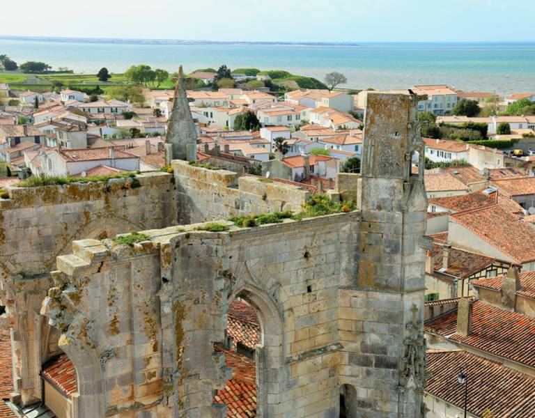 Take in the view over the Ile de Ré's main village