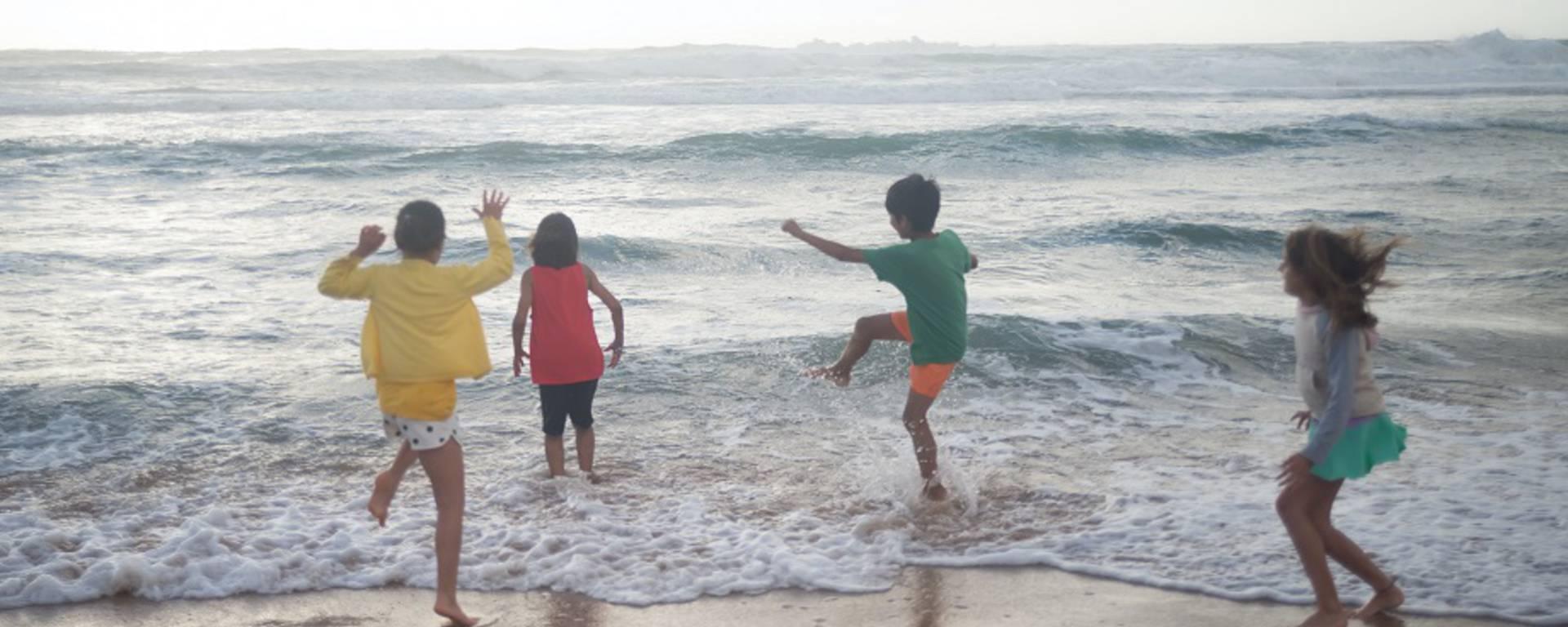enfants plage