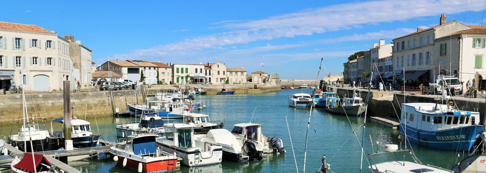 Harbor of Saint Martin de Ré by Lesley Williamson