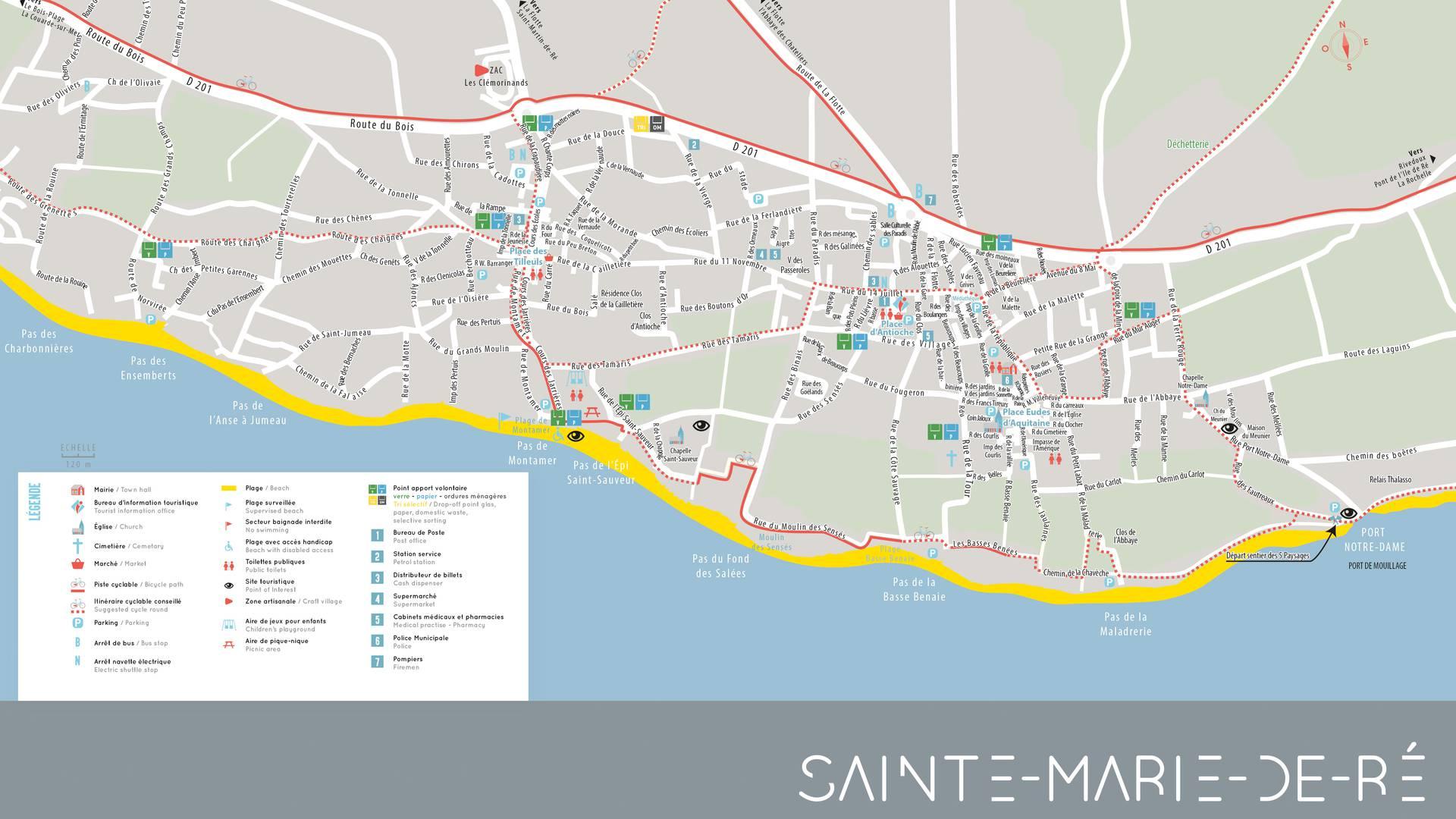 Map of île de Ré, city of Sainte-Marie-de-Ré