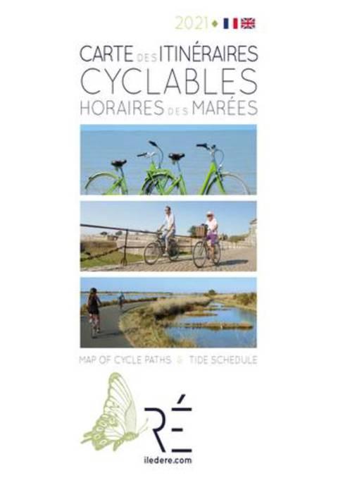 Ile de ré map of cycle routes and tide times