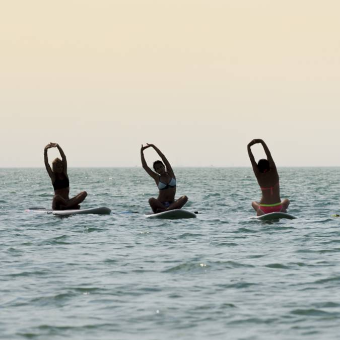 Yoga on the sea